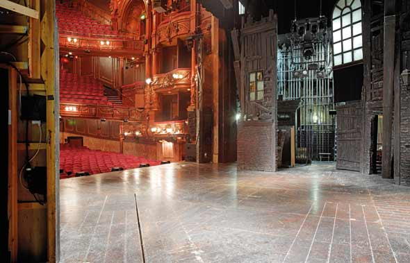 The London Palladium stage. Unseen London by Mark Daly, photography by Peter Dazeley. Published by Frances Lincoln, £30.
