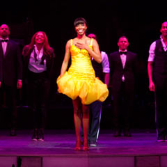 Heather Headley and the cast of The Bodyguard perform at this year's Whatsonstage Awards. The Bodyguard scooped Best New Musical. Photo: Peter Gibbons