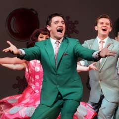 Tom Chambers in WHITE CHRISTMAS. Photo: Mike Urwin