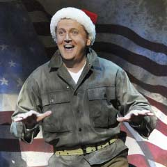Aled Jones in WHITE CHRISTMAS. Photo: Alastair Muir