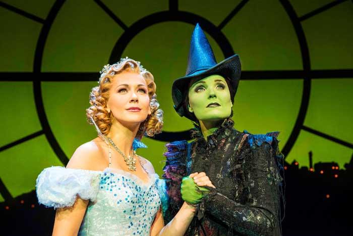 WICKED: Savannah Stevenson (Glinda) and Kerry Ellis (Elphaba). Photo by Matt Crockett.