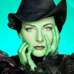 Willemijn Verkaik as Elphaba in Wicked