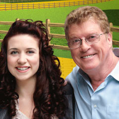 Danielle Hope and Michael Crawford, stars of The Wizard of Oz
