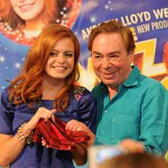 Andrew Lloyd Webber with Sophie Evans, who is starring as Dorothy this week