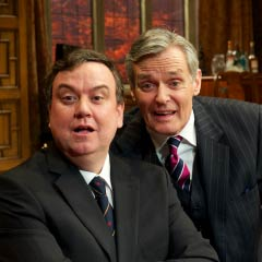 Richard McCabe and Simon Williams in Yes, Prime Minister